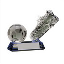 soccer crystal trophies