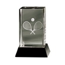 crystal glass tennis trophy awards